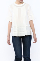 English Factory Woven Sleeve Top
