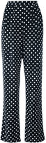 MICHAEL Michael Kors polka dots straight trousers - women - Polyester - 0