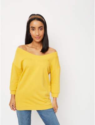 George Mustard Yellow Bardot Sweatshirt