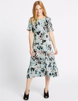 Marks and Spencer PETITE Floral Print Tunic Midi Dress