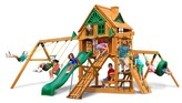 Gorilla Playsets Frontier Treehouse Swing Set with Fort Add-On & Amber