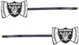 Aminco Oakland Raiders Bow-Logo Bobby Pin - Set of Two