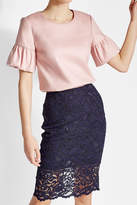 HUGO Cotton Top with Ruffled Sleeves