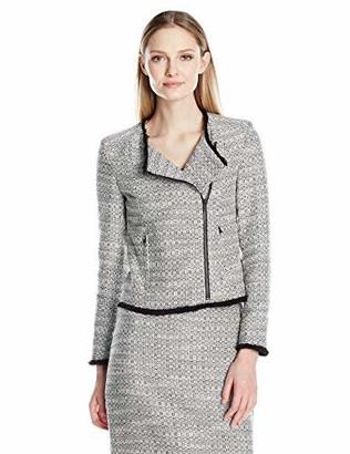 Ellen Tracy Women's Petite Size Asymetrical Moto Jacket