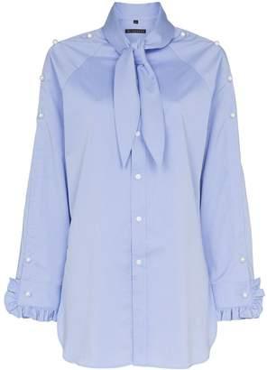 Blindness pearl-appliqué shirt