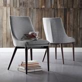 HomeSullivan Nobleton Tapered Leg Linen-Like Dining Chair in Cool Grey (Set of 2)