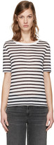 Alexander Wang Navy & White Striped T-Shirt