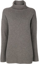Iris von Arnim ribbed roll neck jumper