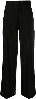 Ganni High-Waisted Wide-Leg Trousers
