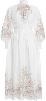 Zimmermann Zinnia Shirred Long Dress