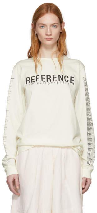 Yang Li Off-White Long Sleeve Reference 3.0 T-Shirt