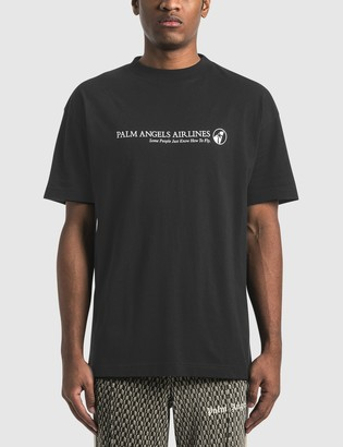 Palm Angels Logo Palm Airlines T-Shirt