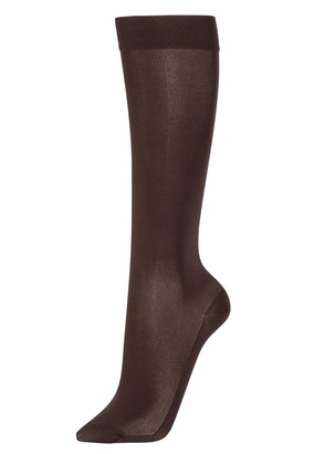 Wolford Women's Satin Opaque Nature Knee-Highs mocca M