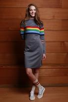 Shabby Apple Rainbow Ponte Dress
