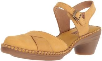 El Naturalista Women's N5324 Pleasant Curry/Aqua Heeled Sandal 41 Medium EU (10 US)