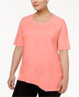 Calvin Klein Plus Size Asymmetrical-Hem Top
