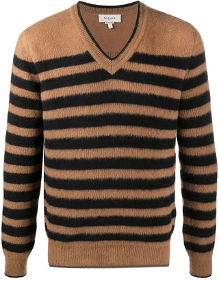Rochas striped V-neck jumper