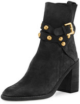 See by Chloe Janis Studded Suede Bootie, Black