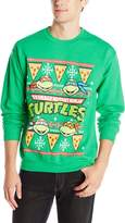Nickelodeon Teenage Mutant Ninja Turtles Men's TMNT Pizza Ugly Christmas Crew Neck Sweatshirt