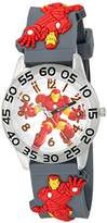 Marvel Boy's 'Iron Man' Quartz Plastic and Silicone Casual Watch