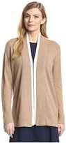 Magaschoni Women's Colorblock Open Cardigan