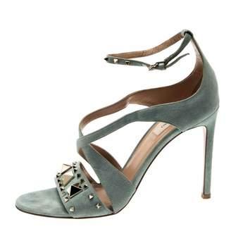 Valentino \N Grey Suede Sandals