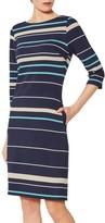 Gina Bacconi Jaslyn Jersey Stripe Dress, Navy
