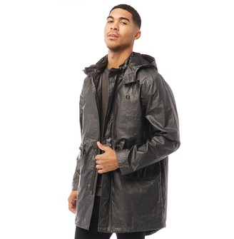 Fred Perry Mens Fishtail Parka Black/Anthracite