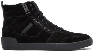 Diesel Black Suede S-Dvelows Sneakers