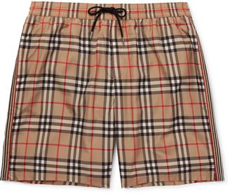 Burberry Long-Length Checked Swim Shorts
