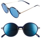 Oliver Peoples Women's Corby 51Mm Round Sunglasses - Blue