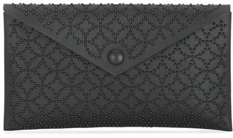 Alaia Small Louise Arabesque Studded Leather Envelope Clutch