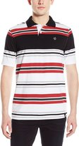 Southpole Men's Single Jersey Polo with Thick Enginee Stripes In 5 Color Tones
