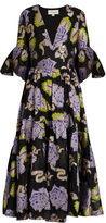 Temperley London Floral tapestry fil coupé georgette gown