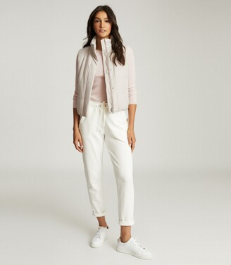 Reiss Ivy - Padded Gilet in Oatmeal