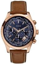 GUESS Brown, Blue and Rose Gold-Tone Leading Sport Watch