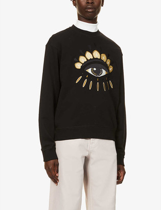 Kenzo Evil Eye graphic-print cotton-jersey sweatshirt