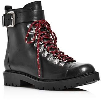 Charles David Women's Resistance Leather Combat Boots
