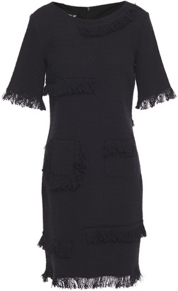Boutique Moschino Frayed Cotton-blend Tweed Mini Dress