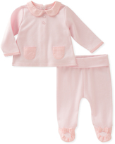Absorba Pink Peter Pan Collar Top & Footie Pants - Infant