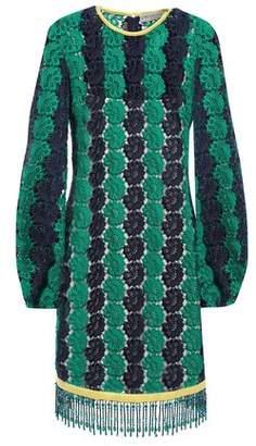 Emilio Pucci Bead-embellished Guipure Lace Mini Dress