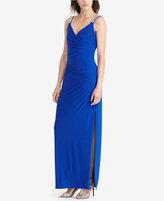 Lauren Ralph Lauren Surplice Jersey Gown