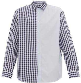 J.W.Anderson Gingham Cotton-poplin Shirt - Mens - Blue
