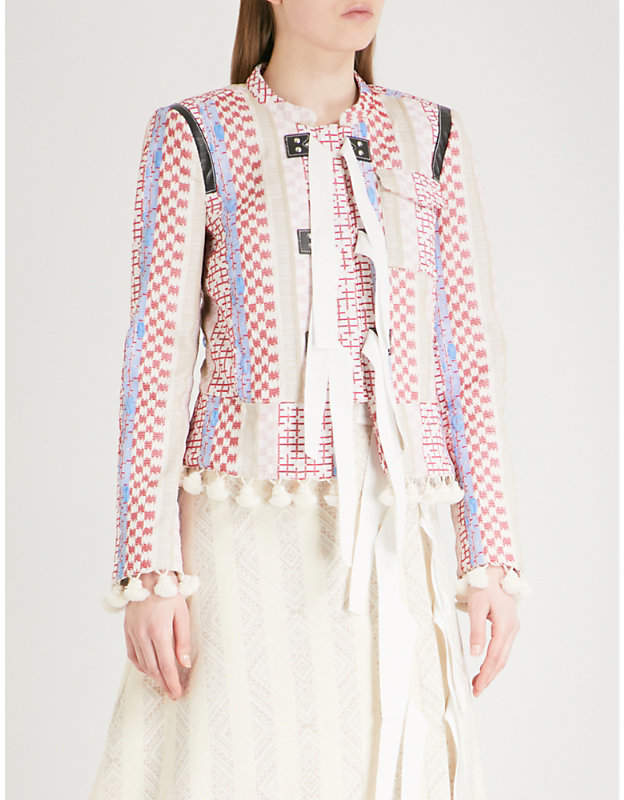 Altuzarra Avenue embroidered woven jacket