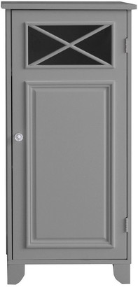 Elegant Home Fashions Dawson Floor Cabinet With 1 Door with Grey Finish