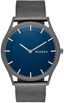 Skagen Men's Holst Smoke-Tone Stainless Steel Mesh Bracelet Watch 40mm SKW6223