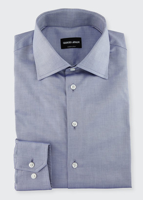 Giorgio Armani Men's Light Blue Basic Dress Shirt