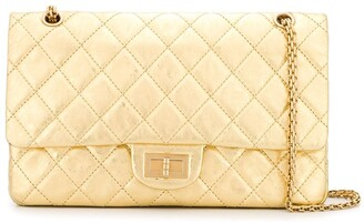 Chanel Pre-Owned quilted metallic shoulder bag