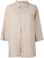 Aspesi flared shirt - women - Linen/Flax - XS