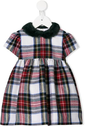 Il Gufo Plaid Short-Sleeve Dress